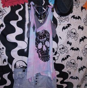 Rainbow skull outfit